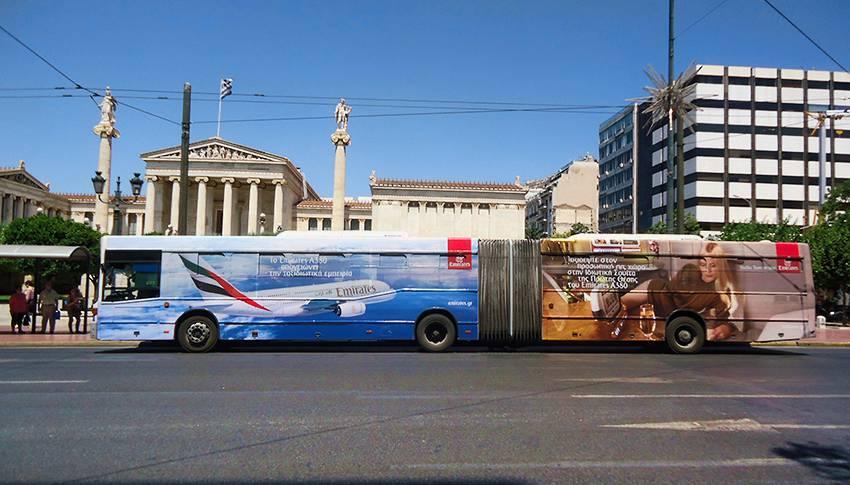 προώθηση προϊόντων σε λεωφορεία αθηνών