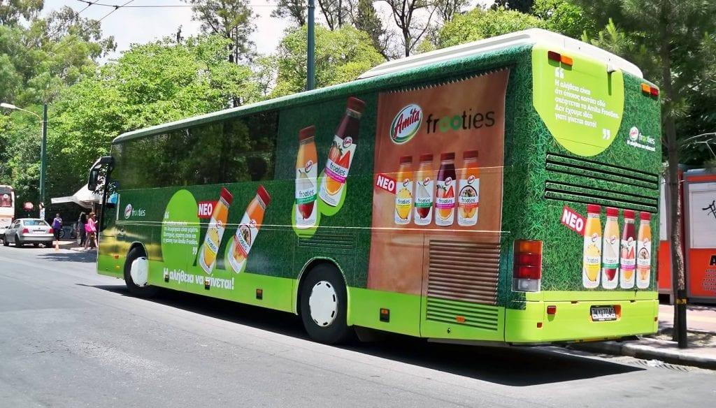 διαφήμιση σε λεωφορείο ΚΤΕΛ Αττικής