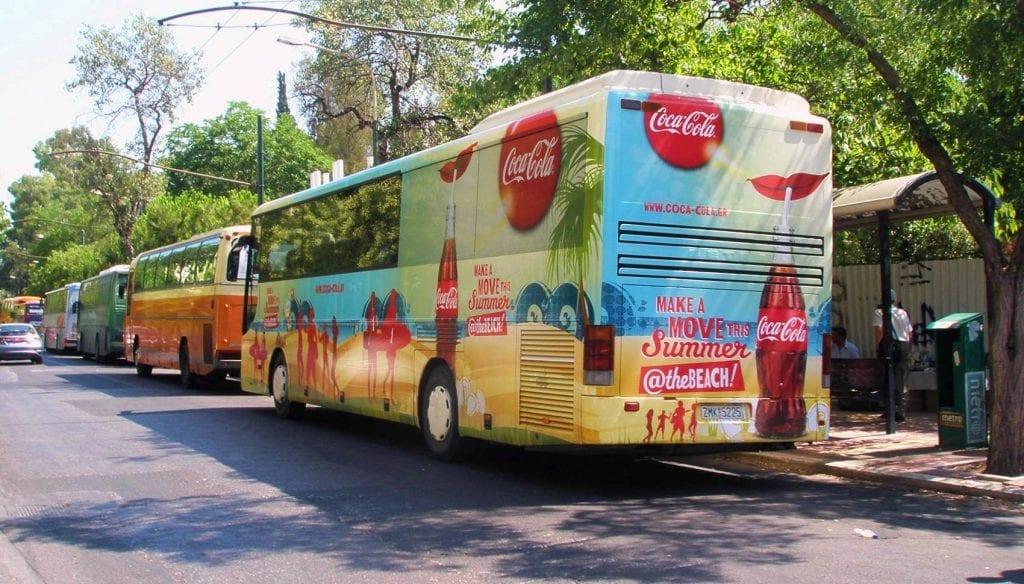 διαφήμιση σε λεωφορεία κτελ αττικής
